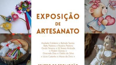 Artesãs locais exibem trabalhos no Centro de Promoção Cultural de São Vicente