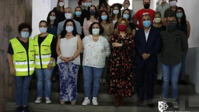 Augusta Aguiar destaca trabalho exemplar dos técnicos no Centro de Acolhimento Temporário