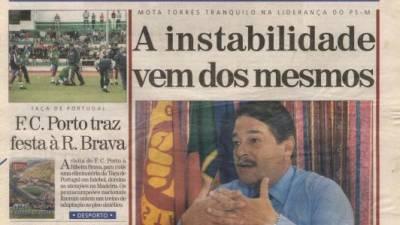 Há 20 anos, Mota Torres enfrentava mais uma 'guerra' interna no PS
