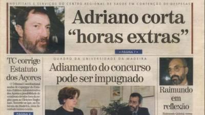 Há 20 anos, Rui Adriano cortava nas horas extra do sector da Saúde