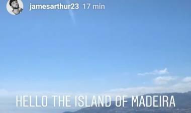 James Arthur já está na Madeira