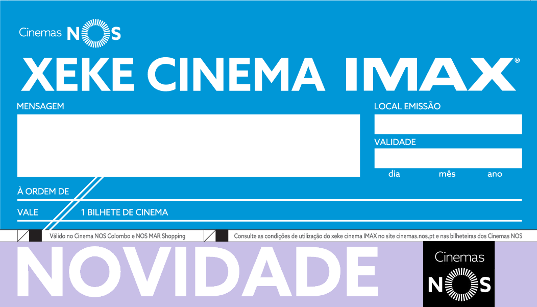 Agora já pode oferecer Xekes Cinema IMAX
